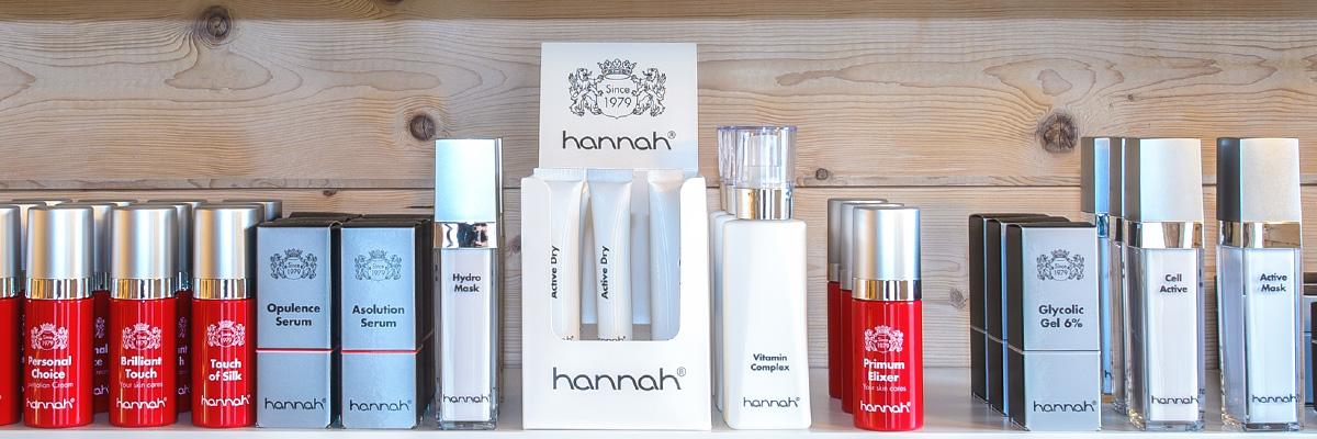 Producten -Jolanda Hekkers - schoonheidssalon - hannah - De Meern - Utrecht